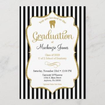 Dental Dentist Hygienist Graduation Announcement