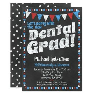 Dental Graduation Party  Red Blue