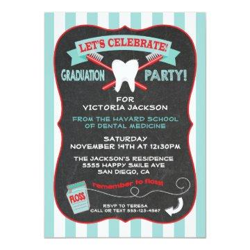 Dentist or dental hygienist Graduation party Card