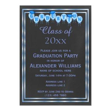 Elegant Blue Double Framed Men's Graduation Magnetic
