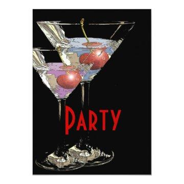 Elegant formal corporate party card
