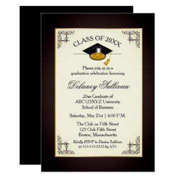Elegant Formal Gold College Graduation Party