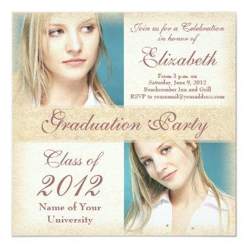 Elegant Grunge Graduation Party