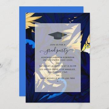 Exotic Tropical Forest Toucan Graduation Party Invitation