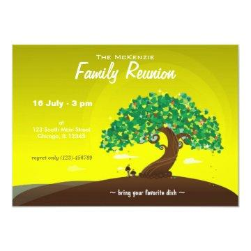 Family Reunion (Lime) Invitation