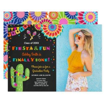 Fiesta and Fun Graduation Invitation party Mexican