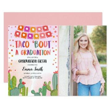 Fiesta Cactus Taco Bout a Graduation photo Invitation