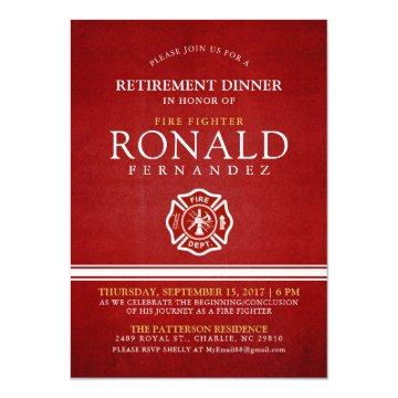 Fire Fighter Retirement Dinner | Event Invitation