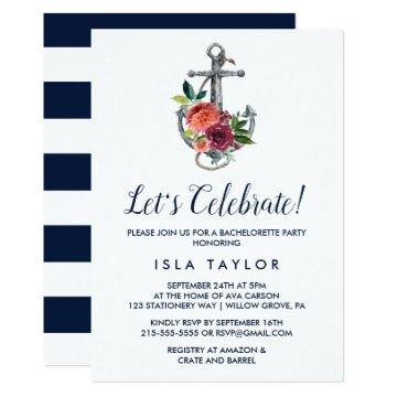 Floral Anchor | Autumn Let's Celebrate Invitation