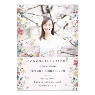 Floral Photo 2018 Graduation Announcement