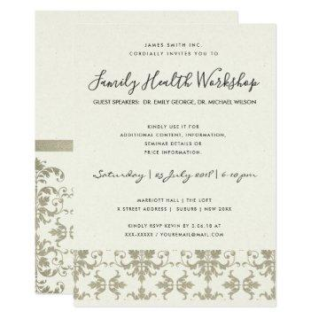 FORMAL FAUX SILVER DAMASK CLASSIC WORKSHOP EVENT