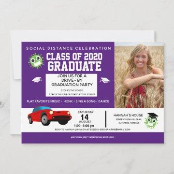 Fun Drive By Party 2020 Graduation Announcement