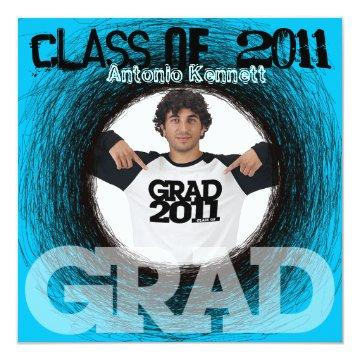Fun Graduation  Blue Scratch Round