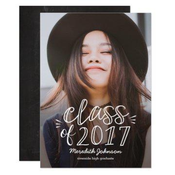 Fun Script Graduation Announcement