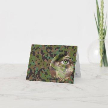 GI Camouflage Party Personalized Note Card