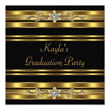 Girls Black and Gold Graduation Party