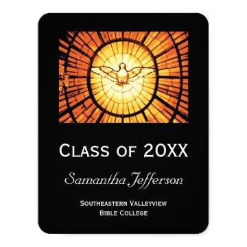 Glass Dove Religious Graduation Announcement