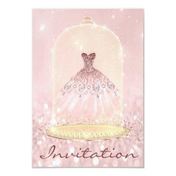 Glitter Gold Pink Diamond Dress Sweet 16th