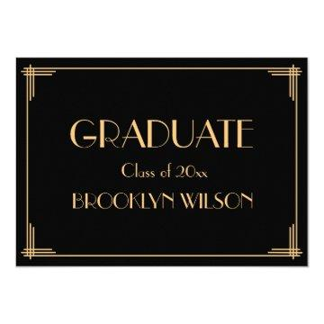 Gold Black Art Deco Graduation Party