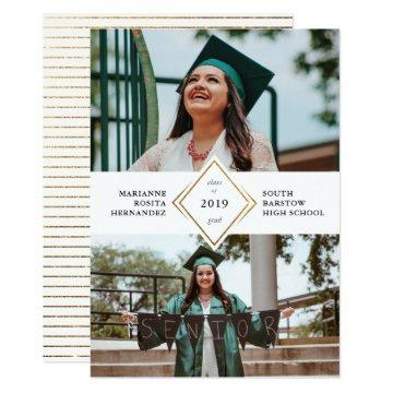 Gold Diamond Graduation Announcement