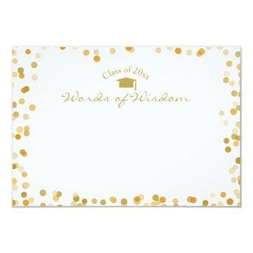 Gold Dots Words of Wisdom Advice for the Graduate Card