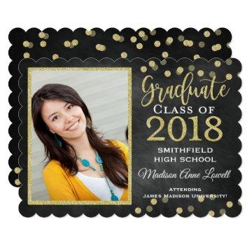 Gold Glitter Confetti Graduation Party