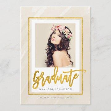 Gold Graduate | Beige Watercolor Announcement