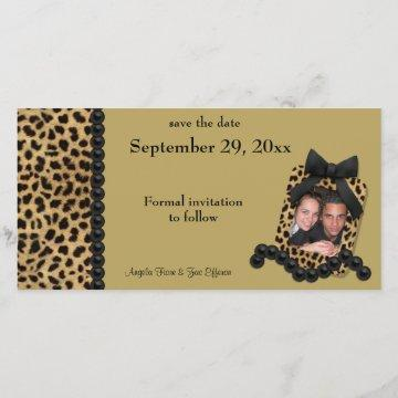 Gold Leopard And Black Pearls Save The Date
