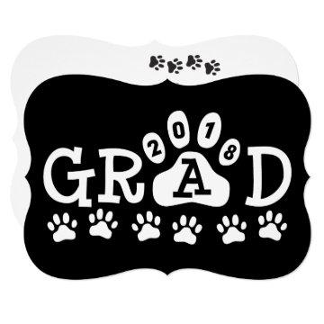 GRAD 2018  Black White Paws Graduation