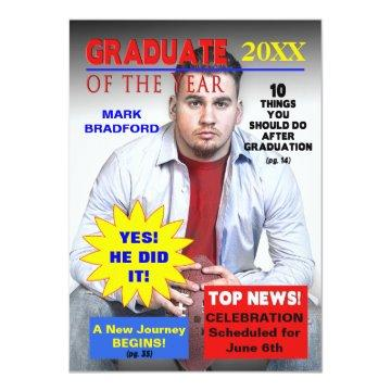 GRADUATE OF THE YEAR - MAGAZINE COVER/PHOTO INVITATION