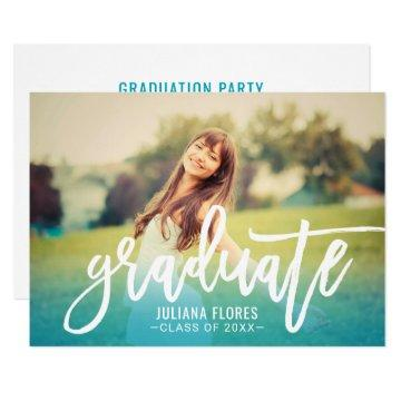 Graduate Photo Party  | Brushed Script