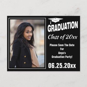 Graduation Annoucement Photo Save The Date Announcement Postcard