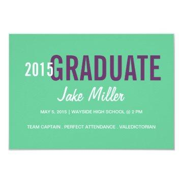 Graduation Announcement/Invite | yr Photo|green Invitation