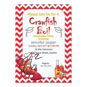 Graduation Crawfish Boil Party Invitation