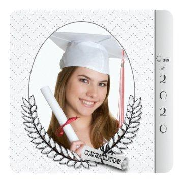 Graduation Diamond Laurel on frame Card