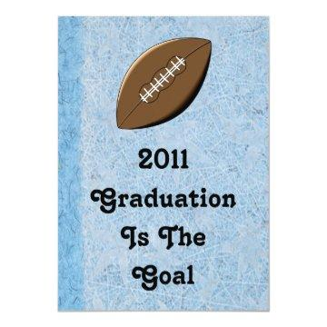 Graduation Invitation - Football Theme