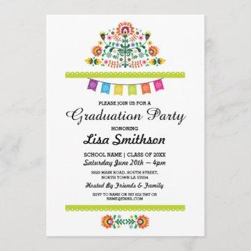 Graduation Invitation Party Fiesta Mexican Invite