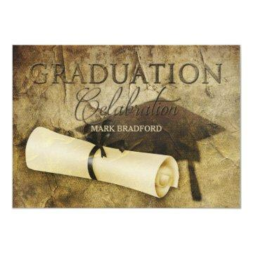 GRADUATION  -RUSTIC ANTIQUE  -PHOTO/BACK