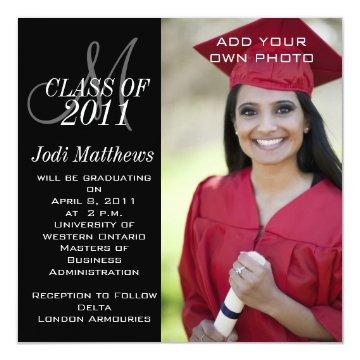 Monogram graduation invitations graduation invitations graduation invitation monogram photo filmwisefo