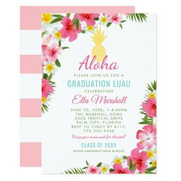Graduation Luau Invitations | Tropical Party