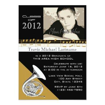 Graduation Music/ French Horn Card
