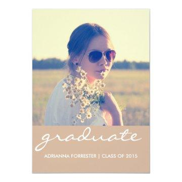 Graduation Party | Chic Beige Photo Invitation