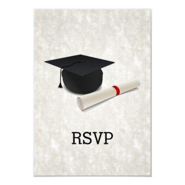 Graduation Party Diploma Customizable RSVP Reply
