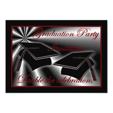 Graduation party  for twins