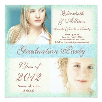 Graduation Party Invitation from Two Girls