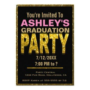 Graduation Party  | Gold Glam