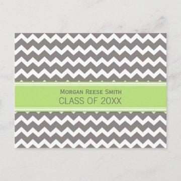 Graduation Party Invitation Postcard Chevron
