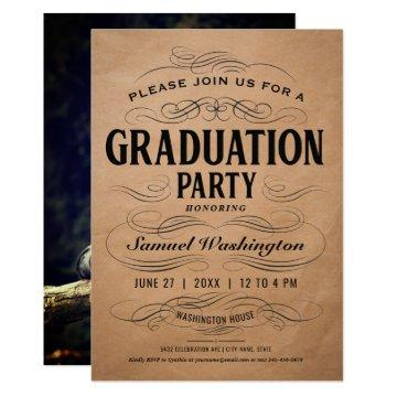 Graduation Party  Classic Scrollwork