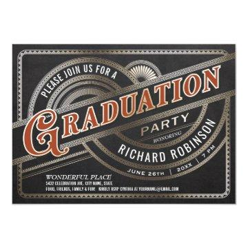 Graduation Party  - Retro Vintage Foil