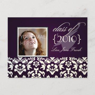 Purple background graduation invitations graduation invitations graduation party invite postcards filmwisefo